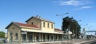 Ο σιδηροδρομικός σταθμός Τρικάλων (© Δήμος Τρικκαίων).