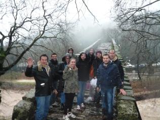 Εκπαιδευτική επίσκεψη με επιτόπου διδασκαλία στη γέφυρα του Αγ. Βησσαρίωνος στην Πύλη Τρικάλων, στο πλαίσιο του μαθήματος «Παθολογία και Εντατική Κατάσταση Ιστορικών Κτιρίων» με υπεύθυνο καθηγητή τον Δρ. Αλέξανδρο Βαγγελάκο, 23-1-2016 (© Αλ. Βαγγελάκος).