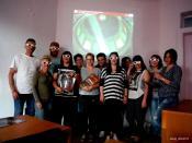 Αρχές στερεοσκοπίας και φωτογραμμετρίας στο μάθημα της Τοπογραφίας - Γεωματικής με Καθηγητή τον Δρ Αθανάσιο Μωυσιάδη (© Δ. Χελιδώνη)