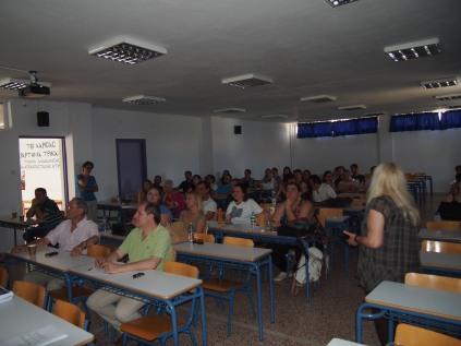 Εκπαιδευτικό σεμινάριο με θέμα: «Οι αναπλάσεις - παρεμβάσεις σε κεντρικές αστικές περιοχές», Τμήμα Πολιτικών Μηχανικών Τ.Ε. (Τρίκαλα). Εισηγητής: Γεώργιος Βαρελίδης, Δρ Αρχιτέκτων Μηχανικός – Πολεοδόμος Ε.Μ.Π., Καθηγητής Α.Ε.Ι. Πειραιά Τ.Ε. (© Α. Μωυσιάδης).
